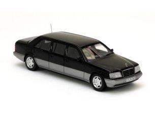 Neo Scale Models NEO44305 MERCEDES LIMOUSINE W124 1990 BLACK 1:43 Modellino