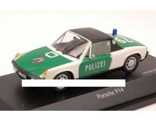Schuco SH3707 PORSCHE 914 POLIZEI 1970 1:43 Modellino