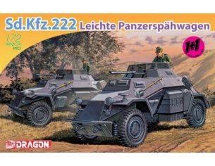 Dragon D7393 SD KFZ 222 KIT 1:72 Modellino