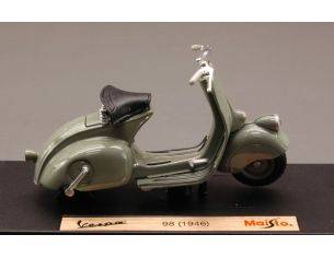 Maisto MI3132 VESPA 98 1946 MOUSE-GREY 1:18 Modellino