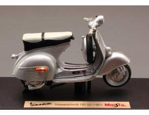 Maisto MI5085 VESPA MESSERSCHMITT 150 GS 1961 SILVER 1:18 Modellino