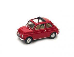 Brumm BM0454-01 FIAT 500 F 1965-72 APERTA ROSSO MEDIO 1:43 Modellino