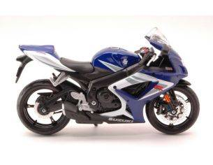 Maisto MI31153 SUZUKI GSX-R750 WHITE/BLUE 1:12 Modellino
