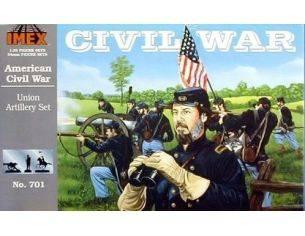 IMEX 701 American Civil War Union Artillery Set 1:32 kit personaggi militari Modellino