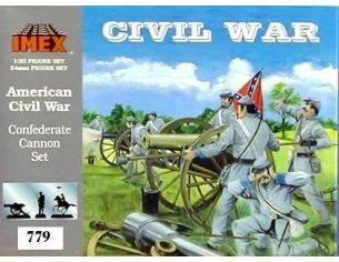 IMEX 779 American Civil War Confederate Cannon Set 1:32 kit personaggi militari Modellin