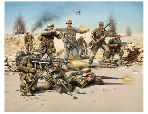 Revell 02513 German Infantry Africa Corps WWII 1:72 kit Modellino