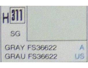 Gunze GU0311 GREY SEMI-GLOSS FS36622 ml 10 Pz.6 Modellino