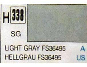 Gunze GU0338 LIGHT GRAY SEMI-GLOSS ml 10 Pz.6 Modellino