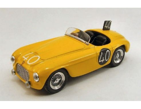Art Model AM0204 FERRARI 166 MM SPIDER N.40 8th 24H SPA 1949 ROOSDORP-DE RIDDER 1:43 Modellino