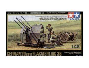 Tamiya TA32554 GERMAN 20 MM FLAKIVERLING 38 1/48 KIT DI MONTAGGIO Modellino