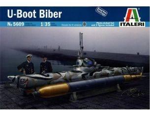 Italeri IT5609 U-BOOT BIBER MIDGE SUBMARINE KIT 1:35 Modellino