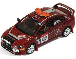 Ixo model RAM449 MITSUBISHI LANCER EVO X N.00 RALLY JAPAN SAFETY CAR 1:43 Modellino