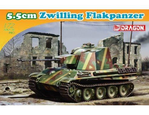 Dragon D7488 5,5 CM ZWILLING FLAKPANZER KIT 1:72 Modellino