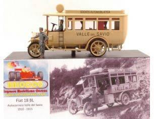 Rio RIBAL01 FIAT 18BL AUTOCORRIERA VALLESAVIO 1910-1915 ED.LIM.PCS 50 1:43 Modellino