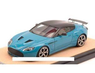 Tecnomodel TMDMI52AZ ASTON MARTIN V12 ZAGATO 2012 BABY BLU W/BLACK ROOF ED.LIM.PCS 10 1:43 Modellino
