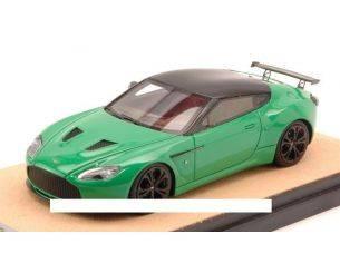 Tecnomodel TMDMI52AU ASTON MARTIN V12 ZAGATO 2012 BRILLANT GREEN  W/BLACK ED.LIM.PCS 10 1:43 Modellino