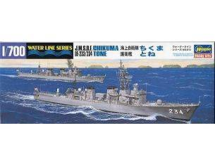 Hasegawa 43015 Water Lines Series J.M.S.D.F. Chikuma De-233/234 Tone 1:700 kit navi modellino Modellino