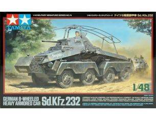 Tamiya TA32574 GERMAN 8-WHEELED HEAVY ARMORED CAR Sd. Kfz. 232 KIT 1:48 Kit Mezzi Militari Modellino