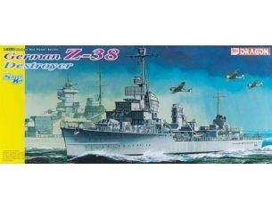 Dragon D1049 MODERN SEA POWER SERIES GERMAN Z-38 DESTROYER 1/350 Modellino