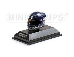 MINICHAMPS 381100205 CASCO HELMET SEBASTIAN VETTEL GP MONACO WORLD CHAMPION F1 2010 Modellino