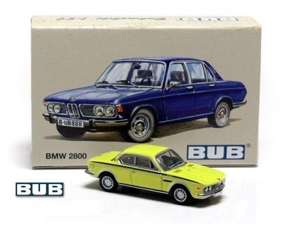Bub 08277 BMW 3.0 CSL COUPE YELLOW 1/87 Modellino