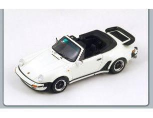 Spark Model S3498 PORSCHE 911 TURBO 3.3 CABRIOLET 1989 WHITE 1:43 Modellino