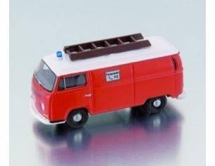 Bub 08702 VW T2 BOX VAN POMPIERI RED 1/87 Modellino
