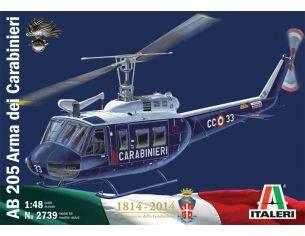 Italeri IT2739 ELICOTTERO AB 205 ARMA DEI CARABINIERI KIT 1:48 Modellino
