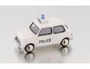 Bub 09103 MINI COOPER S POLICE WHITE 1/87 Modellino