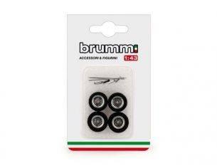 Brumm BMF089 RUOTE IN FOTOINCISIONE PER FERRARI GTO 1962 1:43 Modellino