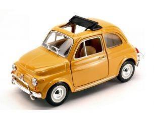 BBURAGO BU22099Y FIAT 500 L 1968 YELLOW 1:24 Modellino
