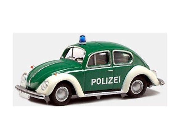 Bub 09501 VW BEETLE 1302 POLIZEI 1/87 Modellino