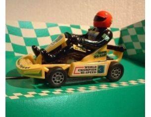 Bum Slot Cars BS-101 GO-KART THUNDER POWER YELLOW 1/32 Modellino
