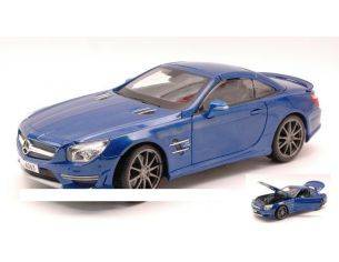 Maisto MI36199 MERCEDES SL 65 AMG 45th ANNIVERSARY 2013 HARD TOP METALLIC BLUE 1:18 Modellino