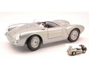 Maisto MI31843 PORSCHE 550 A SPYDER 1953 SILVER 1:18 Modellino