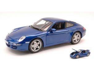 Maisto MI31692 PORSCHE 911 CARRERA S 997 2005 METALLIC BLUE 1:18 Modellino