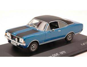 White Box WB057 OPEL COMMODORE A COUPE' GS/E 1970 BLUE/BLACK 1:43 Modellino