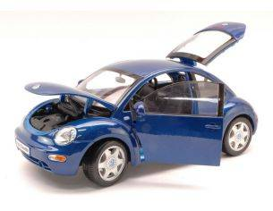 Maisto MI31875 VW NEW BEETLE 2003 METALLIC BLUE 1:18 Modellino