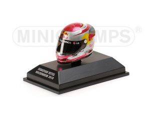 MINICHAMPS 381100305 CASCO HELMET ARAI S. VETTEL GP HOCKENHEIM WORLD CHAMPION F1 2010 Modellino