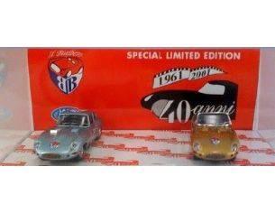 Bialbero 40J COFANETTO 40 ANNI JAGUAR SPIDER ORO+COUPE AZZURRA 1961/2001 Modellino