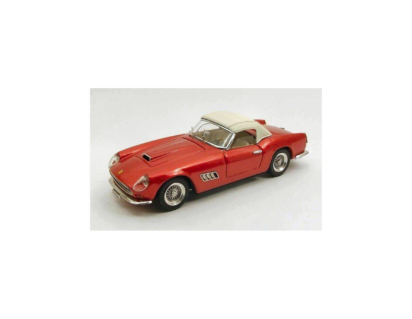 Art Model AM0245 FERRARI 250 CALIFORNIA STRADALE USA 1959 W/CAPOTE WHITE RED MET.1:43 Modellino