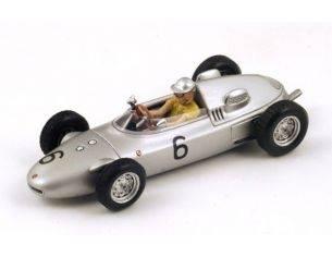 Spark Model S1867 PORSCHE 718 H.HERRMANN 1961 N.6 9th MONACO GP 1:43 Modellino