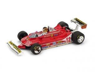 Brumm BM0512CH FERRARI 312 T4 G.VILLENEUVE 1979 N.12 2nd FRANCE GP + PILOTA 1:43 Modellino