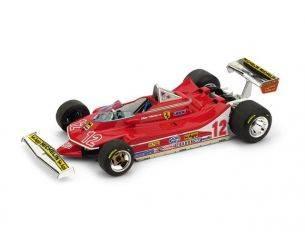 Brumm BM0512 FERRARI 312 T4 G.VILLENEUVE 1979 N.12 2nd FRANCE GP 1:43 Modellino