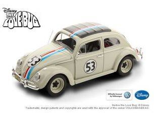 Hot Wheels HWBCJ94 HERBIE IL MAGGIOLINO TUTTO MATTO THE LOVE BUG N.53 1963 1:18 Modellino