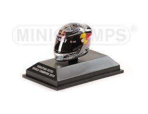 MINICHAMPS 381100105 CASCO HELMET ARAI S. VETTEL GP ABU DHABI WORLD CHAMPION F1 2010 Modellino