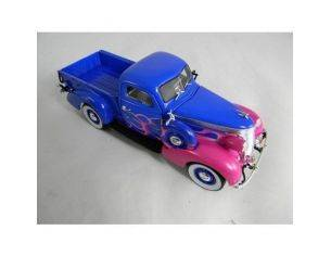 Tin's Manufactured 79106 STUDEBAKER PICK UP '37 BLACK+FLAMES Modellino
