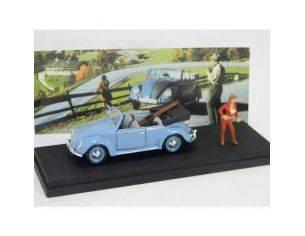 U.A.N. 210 VW CABRIO AUTOSTOP+FIGURE+SCI 1/43 Modellino