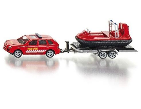 SIKU SK2549 CAR WITH TRAILER AND HOVERCRAFT 1:50 Modellino