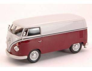 Cararama Motorama CA60380 VW TRANSPORTER 1967 BURGUNDY/WHITE 1:43 Modellino